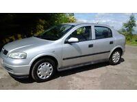 Vauxhall astra 5 door, 2003, mot 1yr advisory free, FSH