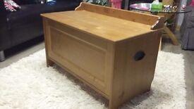 Wooden storage chest trunk