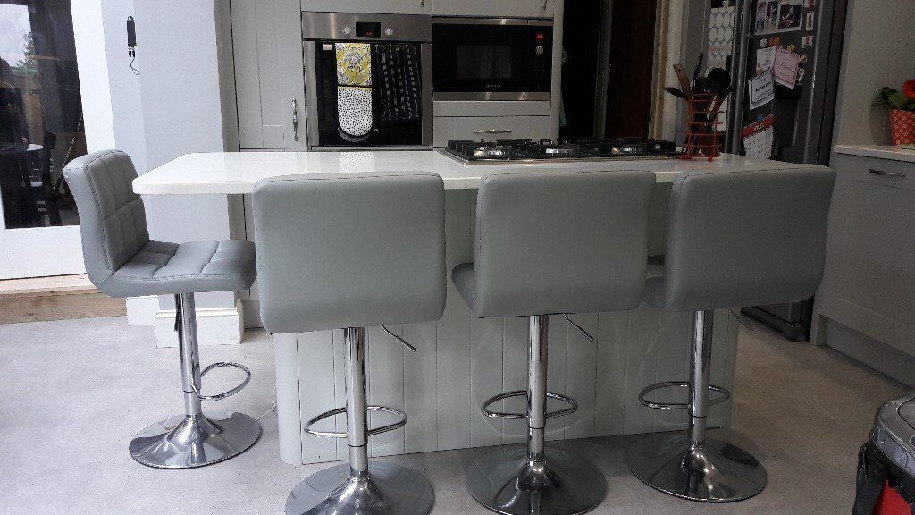 Superb 4 Grey Bar Stools Height Adjustable Can Sell As 2 Pairs In Bishopston Bristol Gumtree Ibusinesslaw Wood Chair Design Ideas Ibusinesslaworg
