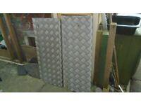 Checker plate step treds