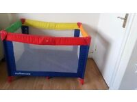 MOTHERCARE TRAVEL COT & MATTRESS