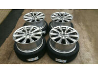 GENUINE 20 FORD EDGE KUGA ALLOY WHEELS 5 X 108 MONDEO FOCUS ST TRANSIT CONNECT+ NEW 255 35 20 TYRES