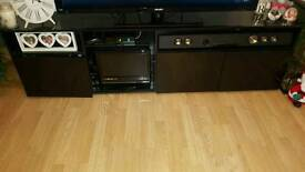 Black gloss tv unit and coffee table