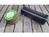 Nash Boxlogic Stiff Rig Box & Korda Krusha in Trakker soft case