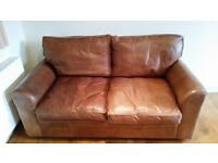 Halo brown leather sofa