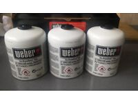 Weber Disposable Gas Canister - Triple Pack BRAND NEW