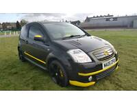 2005 CITREON C2 VTR SEMI-AUTOMATIC GLEAMING BLACK. FORTUNE SPENT MODIFIED. TIMING BELT REPLACED.