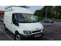 ford transit lwb high roof low milage roof rack long mot