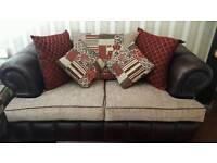 2 x Chesterfield Style settee couch sofa
