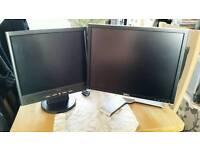2 computer screens
