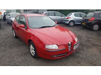 STUNNING ALFA ROMEO 147 WITH 104,000 MILES FROM NEW AND 12 MONTHS MOT AND 3 MONTHS FREE WARRANTY