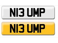 N13 UMP cheap private cherished personalised personal registration plate number