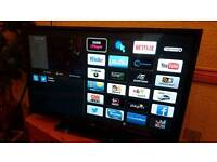 """32"""" smart full hd slim led TV immaculate condition working order"""