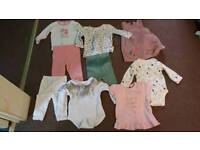 Bundle of baby girls clothes 3-6 m