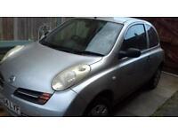 Silver Nissan micra for Sale!! Low mileage, Reg 2004