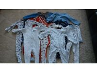 Bundle Of Boys Sleepsuits / Baby Grows Age 12-18 Months