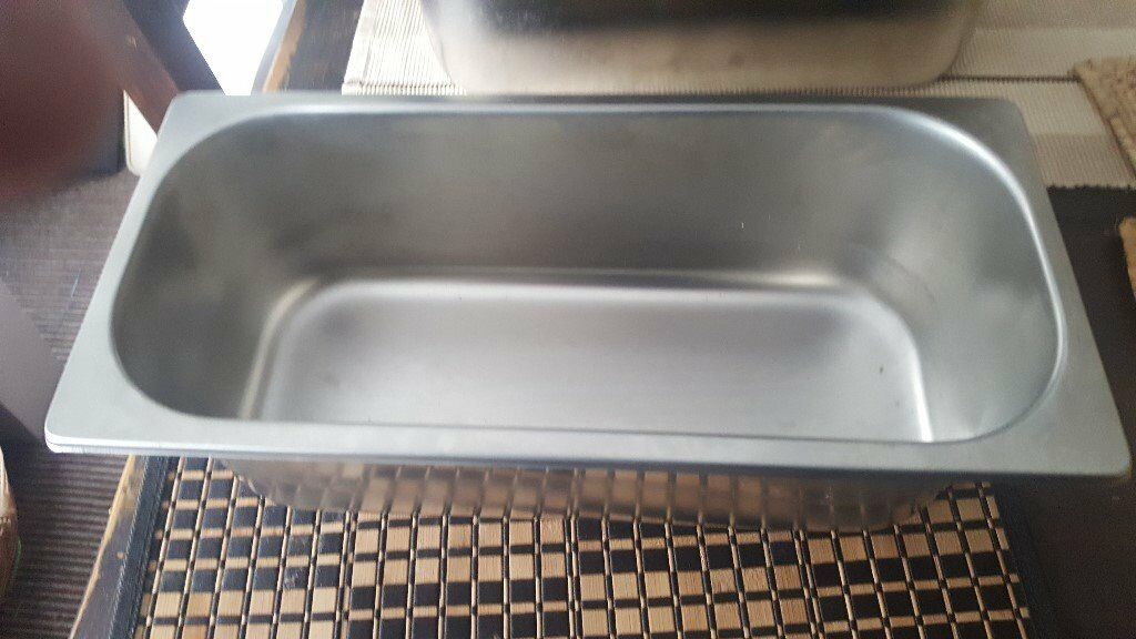 Stainless Steel Inscerts Bain Marie or Icecream counter.