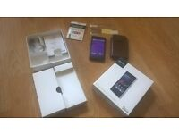 XPERIA Z1 COMPACT MOBILE PHONE WITH CASE, ORIGINAL BOX AND PAY AS U GO SIM WITH 3