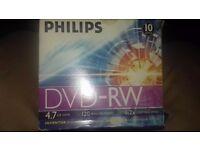 Philips 10pk 120m dvd-rw