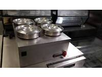commercial parry bain marie 4 pot catering equipment