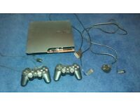 Sony Playstation 3 (160GB), 2 Controllers, 6 games.