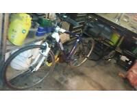 Push bike and trailer