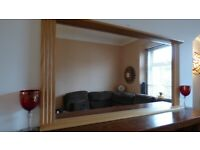 Extra Large Beech Mirror Excellent Condition Throughout 116 cm x 60 cm