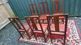 Dining chairs solid mango wood
