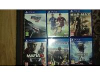 6 games for ps4