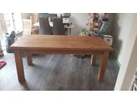 shabby chic solid pine table