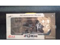 Two remote control helicopters and one remote control boat and jvc car stereo