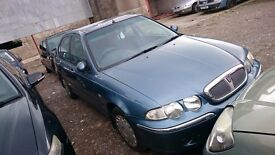2000 ROVER 45 IE 16V, 1.4 PETROL, BREAKING FOR PARTS ONLY, POSTAGE AVAILABLE NATIONWIDE