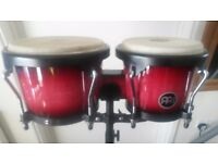 Professional Meinl Bongos with stand.