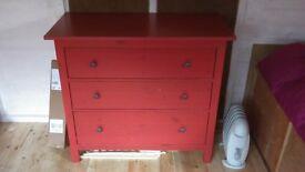 Ikea Hemnes Chest of Drawers - Red.