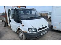 Ford transit tipper double axle double cab breaking