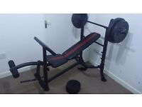 adidas bench and weights package - 45kg