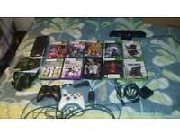 Xbox 360s kinect and earphones