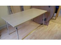 Quickly folding wooden office table by Lammhults