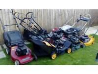 9 x Petrol lawn mowers - spares or repair