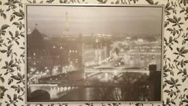 Paris very large canvas picture