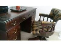 Antique mahogany pedestal desk