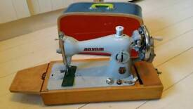 Janome Semi Industrial Sewing Machine - leather - denim
