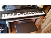 Yamaha P-45 Excellent condition/Nordell Keyboard Stool/Yamaha Dust Cover