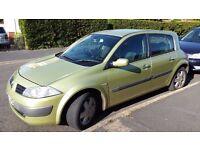 RENAULT MEGANE Hatchback, 1461 DIESEL, 5 DORR, MOT APRIL 2017, Verry cheap road tax 30 pounds year