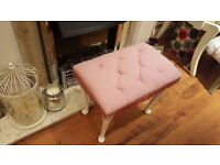 Vintage Retro Footstool Foot Stool Dressing Table Stool Side Table Queen Anne Style Legs
