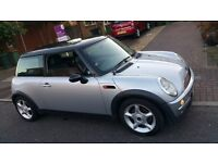 MINI COOPER AUTOMATIC 2003 SILVER 1.6, 78k milage, MINT silver, MOT, CD 2295