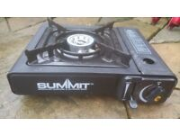 Summit used camp stove comes with gas can