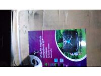 8ft plum magnitude Trampoline with 3g net enclosure.Rrp£159.bnib