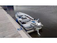 Sylvan Eagle 13 foot aluminium boat with trailer and 5HP Honda 4 stroke outboard