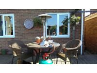 Table Top Gas Patio Heater and 13kG Patio Gas Cylinder